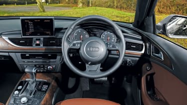 The Audi A6 Avant's interior is a lovely place to be with standard leather and four-zone climate control.