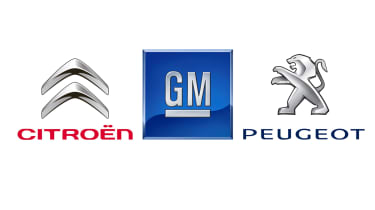 Citroen badge, GM badge, Peugeot badge