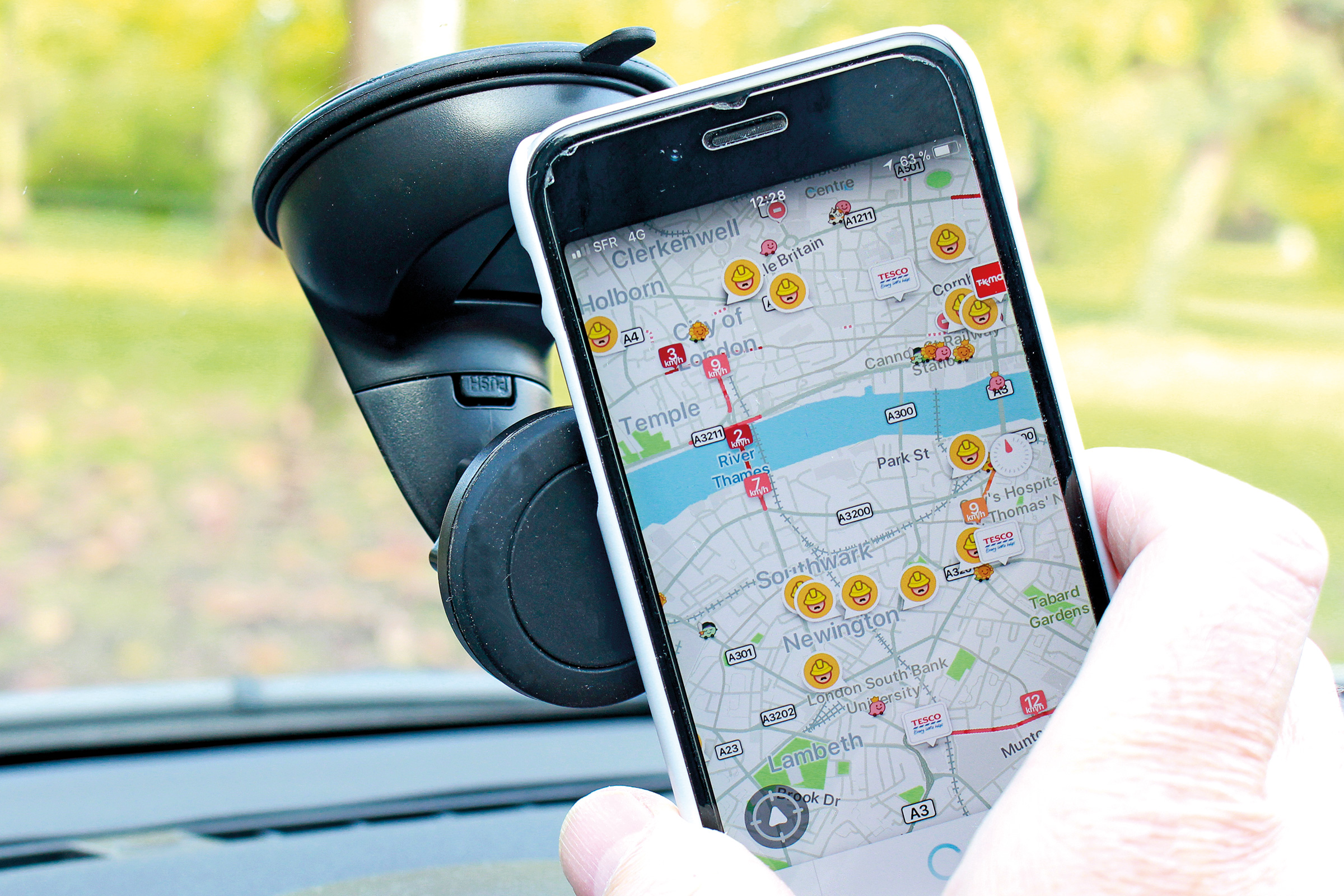 Car Phone Mount,Phone Holder for Car,KNOWAIR Anti-Slip Phone Holder Compatible with iPhone Samsung Android Smartphones