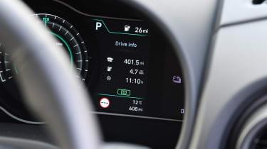Hyundai Kona electric dash