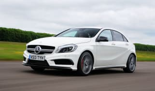 Mercedes A45 AMG front action