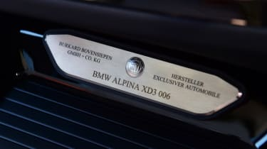 Alpina XD3 - plaque