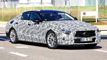 2018 mercedes cls spy shot front quarter