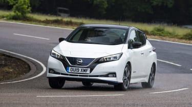 Nissan Leaf front cornering