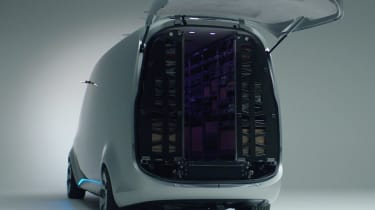 Mercedes Vision Van - video rear door