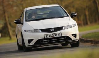 Honda Civic front cornering
