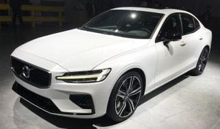 New Volvo S60 white front quarter