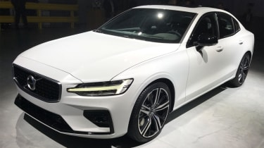 New Volvo S60 white front quarter