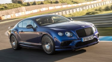 Bentley Continental Supersports 2017 - Moroccan Blue front tracking