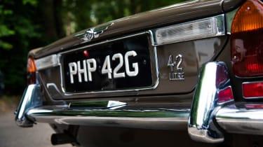 Jaguar XJ6 S1 numberplate