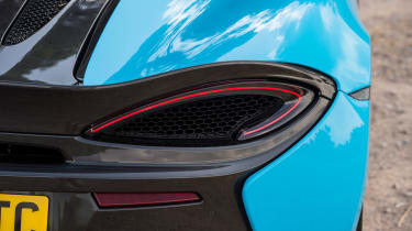 McLaren 570S Spider taillight detail