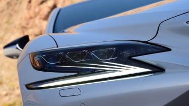 Lexus LS 500h 2018 review - headlight