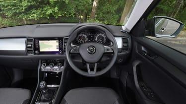Mazda CX-5 vs Skoda Kodiaq vs VW Tiguan - Skoda Kodiaq steering wheel