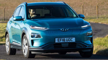Hyundai Kona Electric - front cornering