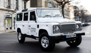 Electric Defender front action