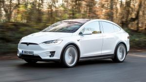 Used Tesla Model X - front action