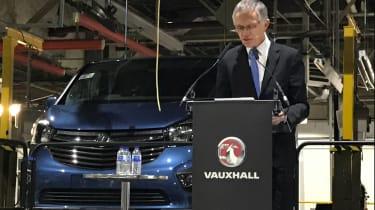 Vauxhall Luton announcement Carlos Tavares