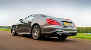 Mercedes SL 400 - rear tracking