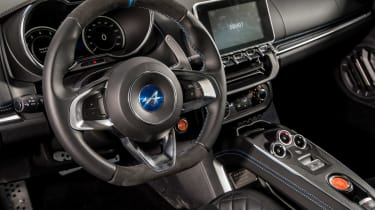 Alpine A110 ride review - steering wheel