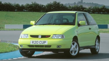 Based on the Mk3 Golf, SEAT managed to inject some much-needed dynamism into the Ibiza GTI. With a shorter wheelbase, stiffer suspension and lower kerb weight, the model to have was the 2.0-litre Cupra Sport model with 148bhp.