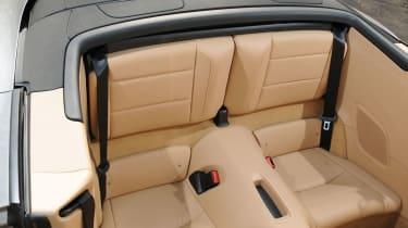 Porsche 911 Cabriolet rear seats