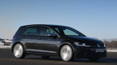 vw golf r tracking front