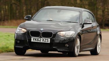 BMW 118d M Sport front cornering