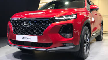 New 2018 Hyundai Santa Fe front grille