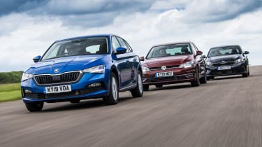 Skoda Scala VW Golf Kia Ceed group