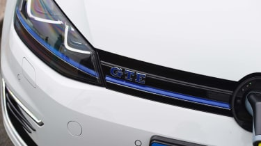 VW Golf GTE - front detail badge