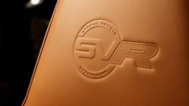 Range Rover Sport SVR - seat detail