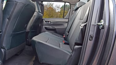 Toyota Hilux rear seats