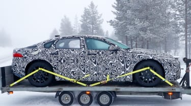 Jaguar XJ electric - spied - side static