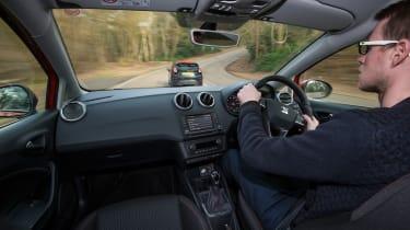 SEAT Ibiza SC FR vs Ford Fiesta Zetec S Black Edition - Sean driving