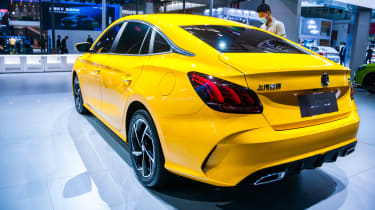 Rear shot of the new MG 5 in China