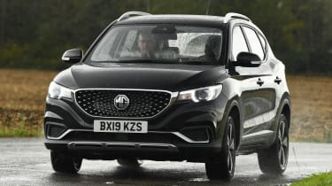 MG ZS EV - front cornering