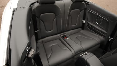 Audi RS5 Cabriolet rear seats