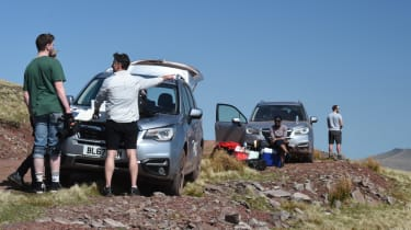 Subaru Forester road trip