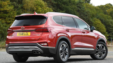 hyundai santa fe static rear