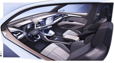 Audi Q4 e-tron concept - driver side interior sketch