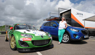 Mazda MX-5 racer and Mazda CX-5
