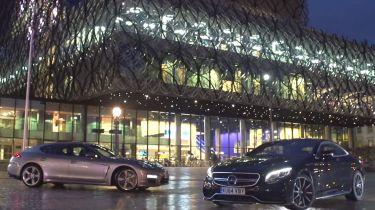 Mercedes S63 vs Porsche Panamera Turbo S video