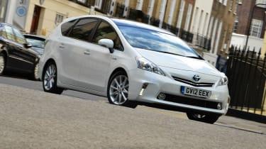 Toyota Prius+ front cornering
