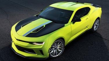 Chevrolet Camaro TurboX SEMA 2016 front quarter