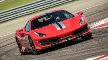 Ferrari 488 Pista - full front action