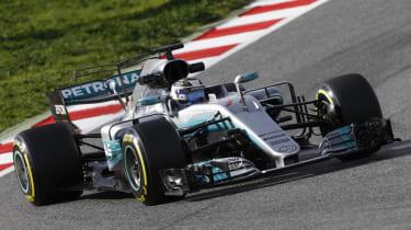 Formula 1 2017 - Mercedes front cornering 2