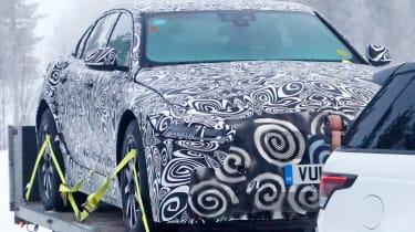 Jaguar XJ electric - spied - front 3/4 static