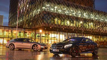 Mercedes S 63 AMG Coupe vs Porsche Panamera Turbo S