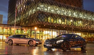 Mercedes S 63 AMG Coupe vs Porsche Panamera Turbo S