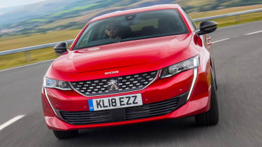New Peugeot 508 GT 1.6 turbo front end